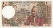 France 10 Francs Voltaire - Q.434 - 07-11-1968
