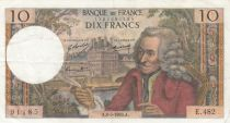 France 10 Francs Voltaire - Serial E.482 - 08-05-1969