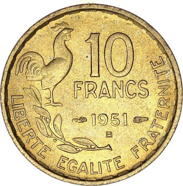 France 10 Francs Woman head - 1951 B Beamont-le-Roger