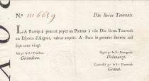 France 10 Livres Banque de Law - 01-01-1720, typographié - 1116689