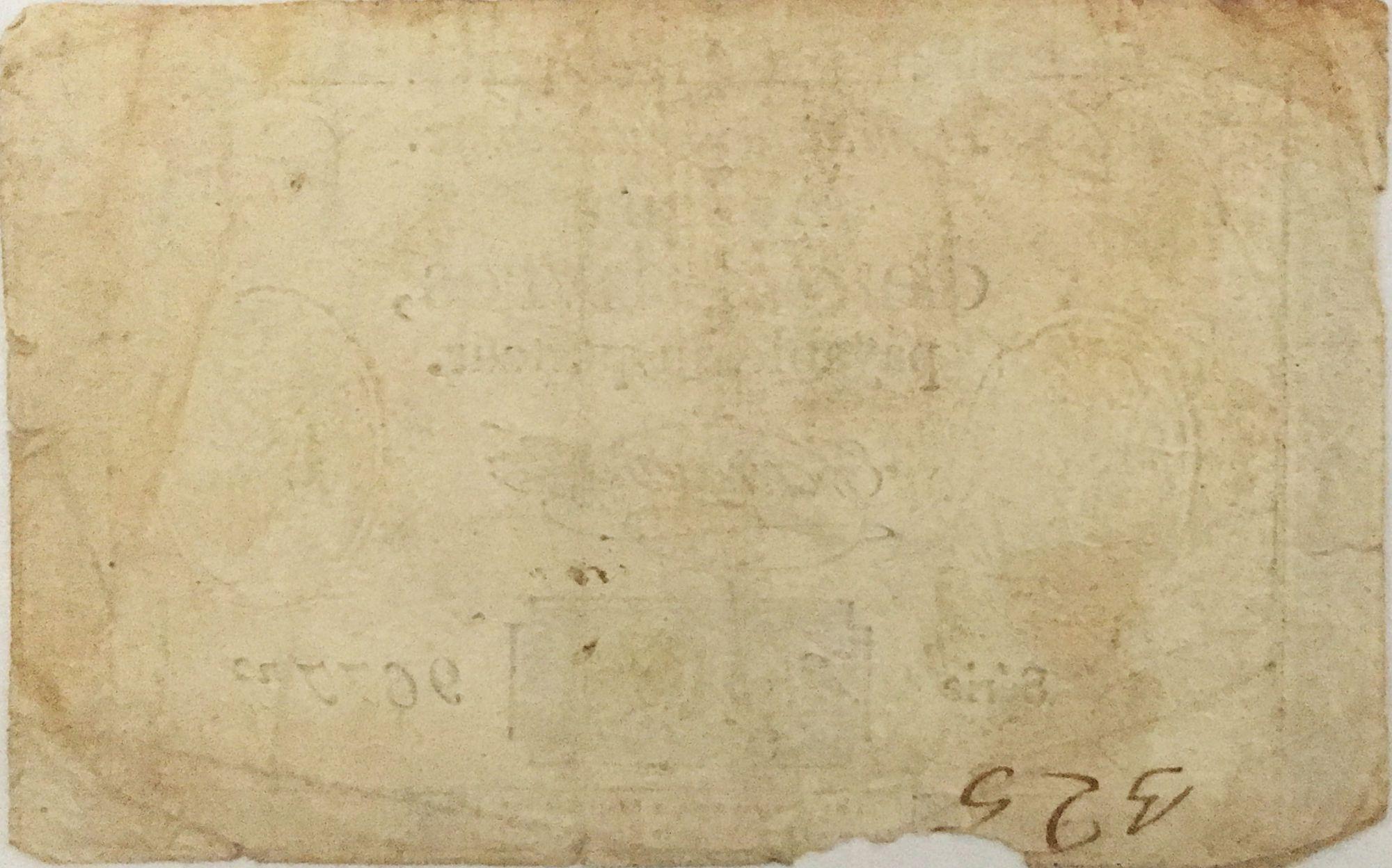 France 10 Livres Black Watermark Republique (24-10-1792) - Sign. Taisaud - Serial 9677 - G+