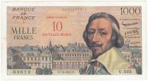 France 10 NF / 10000 Francs Richelieu - 07-03-1957 Serial V.333 - VF - P.138