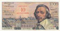 France 10 NF on 1000 Francs, Richelieu - 07-03-1957 - V.328