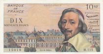 France 10 NF Richelieu - 01-09-1960 Serial H.115 - VF to XF - P.142