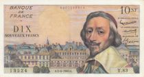 France 10 NF Richelieu - 02-06-1960 - Serial Y.83-13524 - XF+