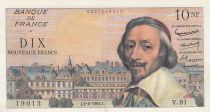 France 10 NF Richelieu - 02-06-1960 Serial V.91 - VF to XF - P.142