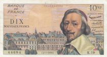 France 10 NF Richelieu - 02-07-1959 Serial K.19 - VF - P.142