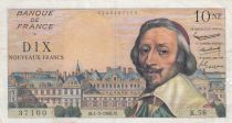 France 10 NF Richelieu - 04-02-1960 Serial K.58 - G to VF