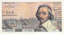 France 10 NF Richelieu - 05-03-1959 Serial T.1 - VF to XF