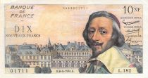 France 10 NF Richelieu - 06-04-1961 Serial L.182 - F+