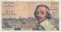 France 10 NF Richelieu - 07-04-1960 Serial E.69 - G to VF