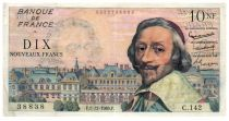 France 10 NF Richelieu Printing error - 01-12-1960 Serial C.142 - VF