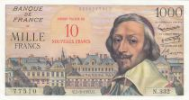 France 10 NF sur 1000 Francs - 07-03-1957 Serial N.332