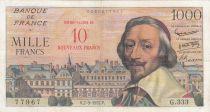 France 10 NF sur 1000 Francs, Richelieu - G.333 - 1957 - TTB