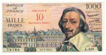 France 10 NF sur 1000 Francs Richelieu - 07-03-1957 Série A.326 - SUP+