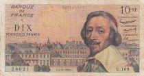 France 10 Nouveaux Francs Richelieu -04-08-1960 - Série U.109