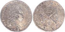France 10 Sols Louis XIV aux insignes - 1707 9 Rennes