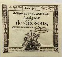 France 10 Sous Femmes, bonnet phrygien (23-05-1793) - Sign. Guyon - SPL