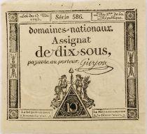 France 10 Sous Femmes, bonnet phygien (23-05-1793) - Sign. Guyon - Série 586 - PSUP