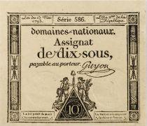 France 10 Sous Femmes, bonnet phygien (23-05-1793) - Sign. Guyon - Série 586 - SPL