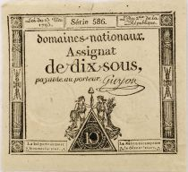 France 10 Sous Women , Liberty cap (23-05-1793) - Sign. Guyon - Serial 586 - VF to XF