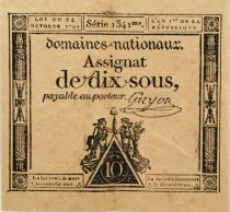 France 10 Sous Women, Liberty cap (24-10-1792) - Sign. Guyon - Serial 1341 - VF