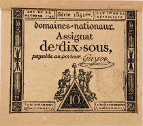 France 10 Sous Women, Liberty cap (24-10-1792) - Sign. Guyon - Serial 1341 - XF