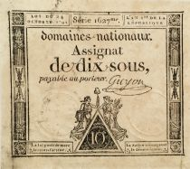 France 10 Sous Women, Liberty cap (24-10-1792) - Sign. Guyon - Serial 1627 - VF to XF
