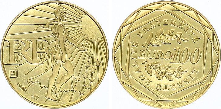 France 100 Euro Or Semeuse - 2009 - Neuf