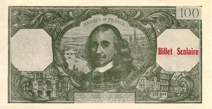 France 100 F Corneille (green)