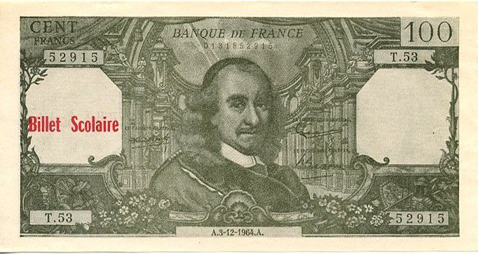 France 100 F Corneille (vert)