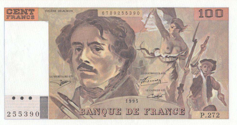 France 100 F Delacroix - P.272 - 1995