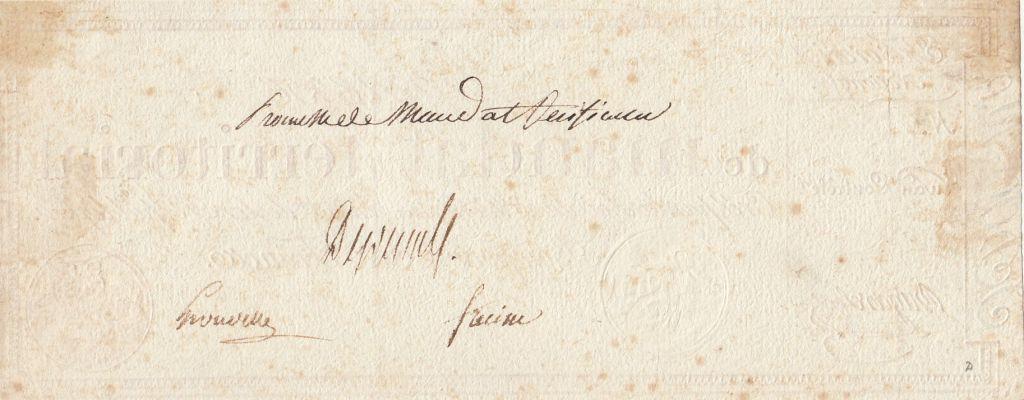 France 100 Francs 1796 without serial - Vérificateur (Specimen)