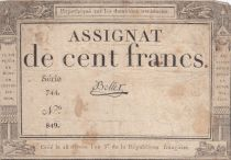 France 100 Francs 18 Nivose An III - 7.1.1795 - Sign. Bellet