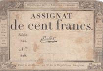 France 100 Francs 18 Nivose An III - 7.1.1795 - Sign. Bellet