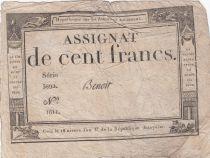 France 100 Francs 18 Nivose An III - 7.1.1795 - Sign. Benoit