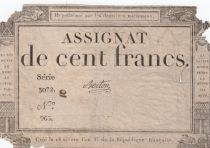 France 100 Francs 18 Nivose An III - 7.1.1795 - Sign. Berton