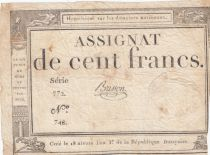 France 100 Francs 18 Nivose An III - 7.1.1795 - Sign. Brisson