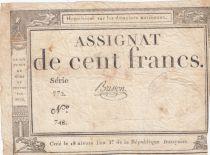 France 100 Francs 18 Nivose An III - 7.1.1795 - Sign. Brisson