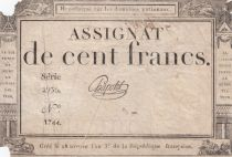 France 100 Francs 18 Nivose An III - 7.1.1795 - Sign. Chapotot