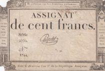 France 100 Francs 18 Nivose An III - 7.1.1795 - Sign. Chapotot