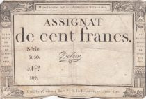 France 100 Francs 18 Nivose An III - 7.1.1795 - Sign. De Caen