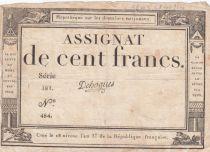 France 100 Francs 18 Nivose An III - 7.1.1795 - Sign. Dehogues Serial 281