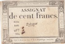 France 100 Francs 18 Nivose An III - 7.1.1795 - Sign. Dehogues Serial 3503