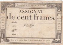 France 100 Francs 18 Nivose An III - 7.1.1795 - Sign. Dehogues Série 281