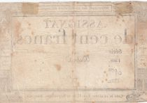 France 100 Francs 18 Nivose An III - 7.1.1795 - Sign. Dubra Série 1268