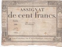 France 100 Francs 18 Nivose An III - 7.1.1795 - Sign. Dubra Série 508