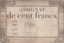 France 100 Francs 18 Nivose An III - 7.1.1795 - Sign. Goussu