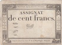 France 100 Francs 18 Nivose An III - 7.1.1795 - Sign. Gros Série 1407