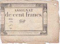 France 100 Francs 18 Nivose An III - 7.1.1795 - Sign. Gros Série 4133